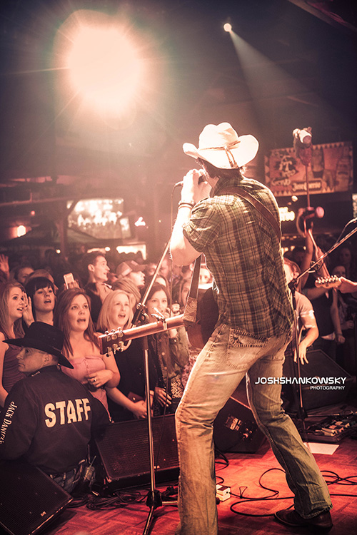 Dean Brody performs on stage in Edmonton.